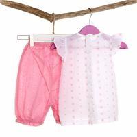 Pink Flower Texture Shirt Shorts