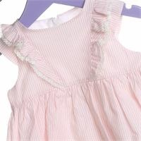 Baby Girl Pink Texture Dress with Panty