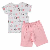 Panda Feature Printed Short Sleeve Baby Girl Pyjamas