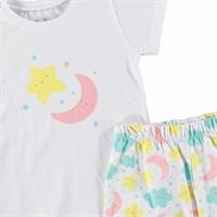 Sleepy Printed Short Sleeve Baby Pyjamas