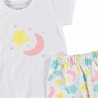 Uykucu Baskılı Kısa Kol Bebek Pijama