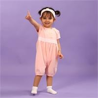 Little Birds Baby Girl Short Sleeve Jumpsuit Headband