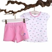 Surfer Baby Girl Tshirt Short Set