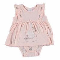 Swan Baby Girl Ruffle Detail Sleeveless Dress Bodysuit