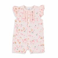 Summer Baby Girl Sea Horse Ruffled Short Romper