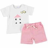 Yaz Kız Bebek Home Tshirt Şort 2li Takım