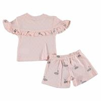 Swan Baby Collar Tshirt Shorts Set