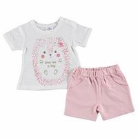 Summer Baby Girl Hedgehog Printed Tshirt Short Set