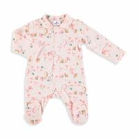 Sea Horse Baby Girl Petter Pan Collar Snaps Romper