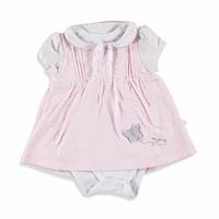 Flamingo Kız Bebek İnterlok Elbise Body