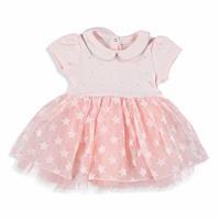 Yıldız Detaylı Kız Bebek Tül Etekli Elbise
