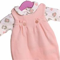 Kız Bebek Leopar Baskılı Salopet Sweatshirt Takım 2li Takım