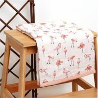 4 Layer Muslin Blanket 75X90 Flamingo