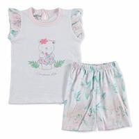 Summer Baby Girl Hydrangea Flower Short Sleeve T-shirt Short 2 pcs Set
