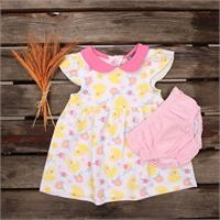Summer Baby Girl Toy Duck Supreme Dress