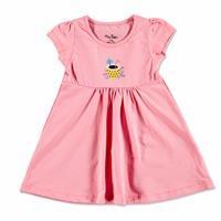Yaz Kız Bebek Flamingo Elbise