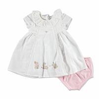 Summer Baby Cute Rabbit Cotton Short Sleeve Crew Neck Dress 2 pcs