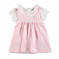 Yaz Kız Bebek Sevimli Tavşan Elbise Tshirt Takım