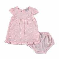 Summer Baby Girl Texture Dress Panty Set