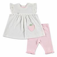 Yaz Kız Bebek Sevimli Tavşan Tshirt-Şort Takım