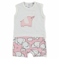 Summer Baby Girl Tiny Elephant Cotton Jumpsuit