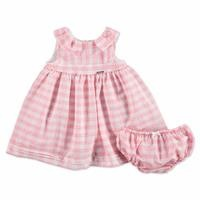 Summer Plaid Baby Girl Cotton Dress