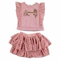 Bebek Puanlı Varak Bluz-Etek