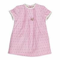 Summer Baby Girl Flower Umbrella Poplin Short Sleeve Dress