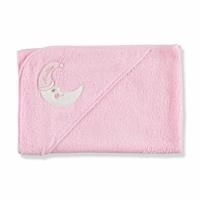 Moon Patterned Baby Towel Pink