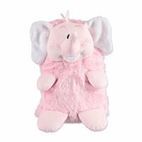 Elephant 2D Plush Baby Blanket Pink 80x100 cm