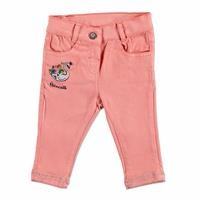 Swan Embroidered Cotton Baby Pants