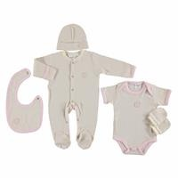 Newborn Baby Nev Series Organic Long Sleeve Footed Hospital Pack 5 pcs