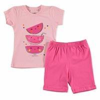 Summer Baby Girl Watermelon Slices T-shirt Short