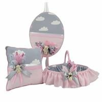 Baby Room Decoration Set Pink Cloudy