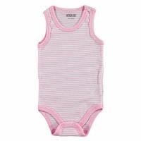 Striped Rib Baby Snaps Neck Bodysuit