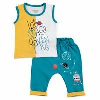 Summer Baby Boy To Space Theme Camisole Short Set