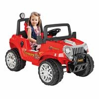 Snappy Battery-Powered Jeep 12 V Red