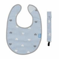 Baby Bib with Pacifier Hanger