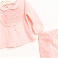 Bebek Luna Sweatshirt Patiksiz Tek Alt 2li Takım
