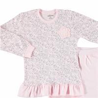 Smiling Cat Baby Ruffled Sweatshirt Trousers 2 pcs