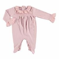 Baby Lacy Detail Footed Romper