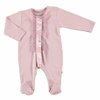 Tulle Detail Baby Footed Romper