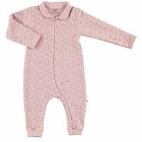 Baby Lacy Detail Zippered Footless Romper