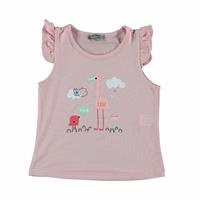 Kız Bebek Hola Baskılı Süprem Tshirt