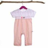Anarosa Baby Girl Rib Short Sleeve Romper