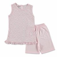 Summer Baby Girl Flower Supreme Turtle Neck T-shirt Short 2 pcs Set