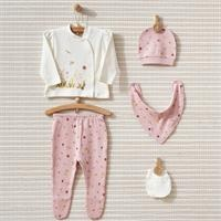 April Sun Interlock Baby Collar 5-piece Newborn Hospital Pack