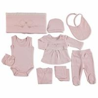 Bow Embroidered Newborn Hospital Pack 10 pcs
