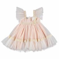 Summer Lacy Strip Detail Baby Girl Dress