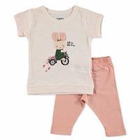 Yaz Kız Bebek Mobil Kulak Tavşancık Tshirt-Tayt